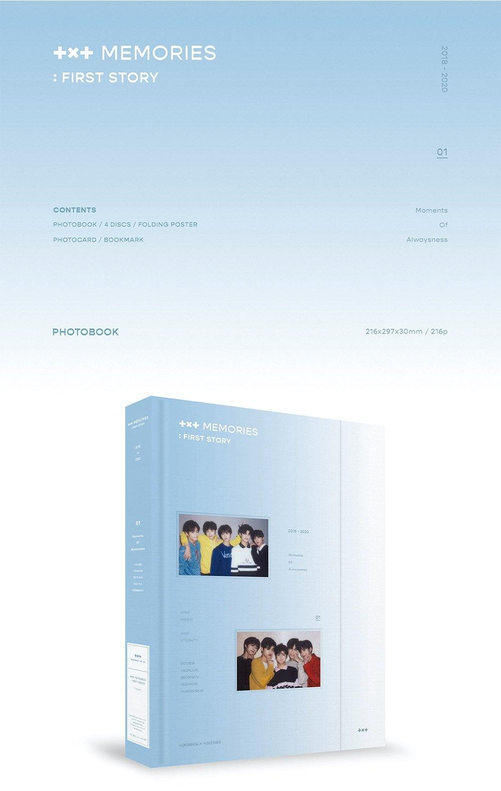 TXT - Memories: First Story - 4 DVDs - Pre-Order