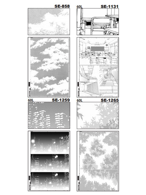Deleter Manga zeichnen - Rasterfolie Screentone Set Vol. 8