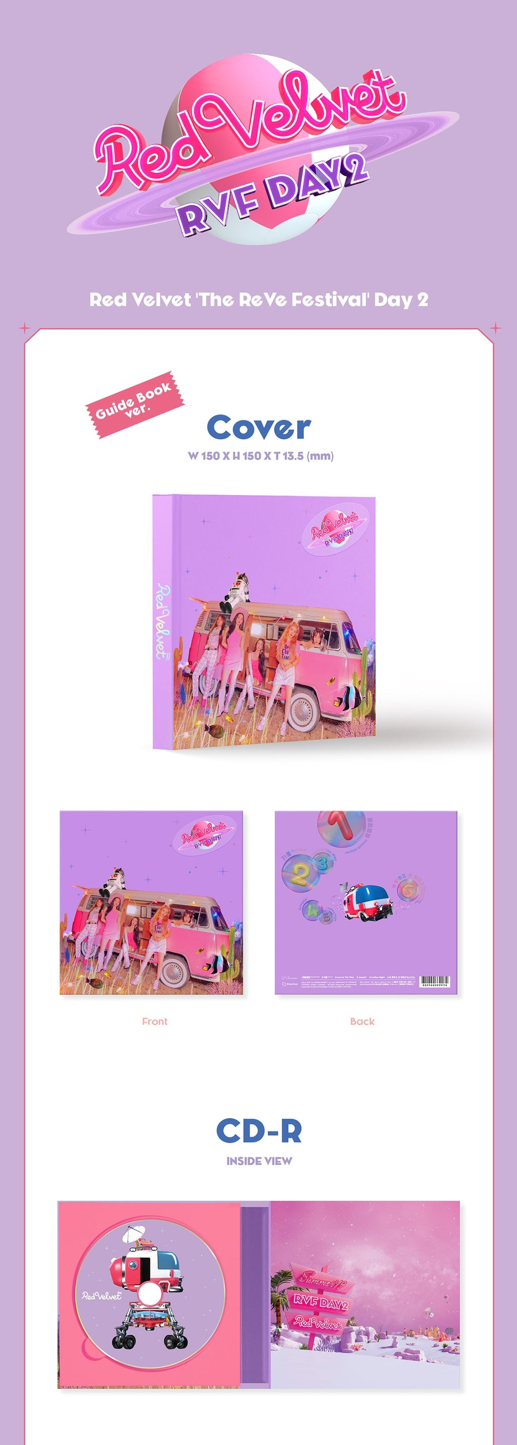 Red Velvet - The ReVe Festival Day 2 - Guide Book Version - J-Store Online
