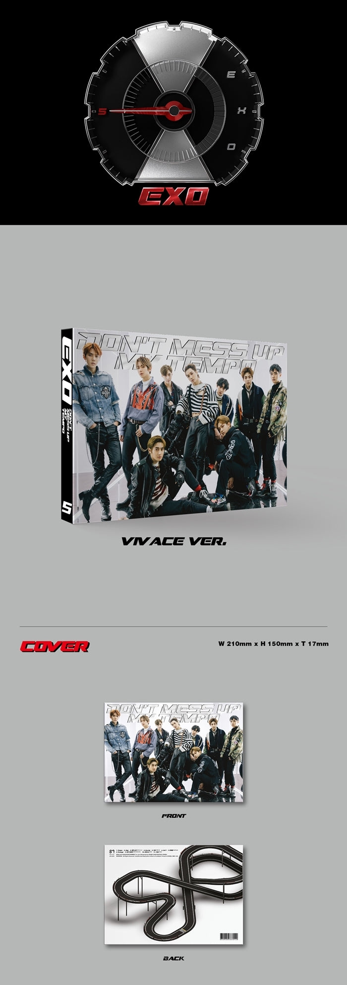 EXO - Don't Mess Up My Tempo - Vivace Version - J-Store Online