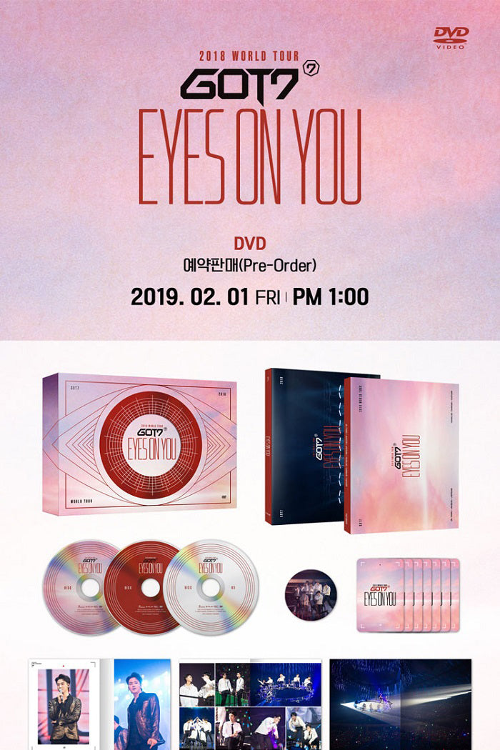 GOT7 - GOT7 2018 World Tour (Eyes on You) - 3 DVDs - Jetzt lieferbar