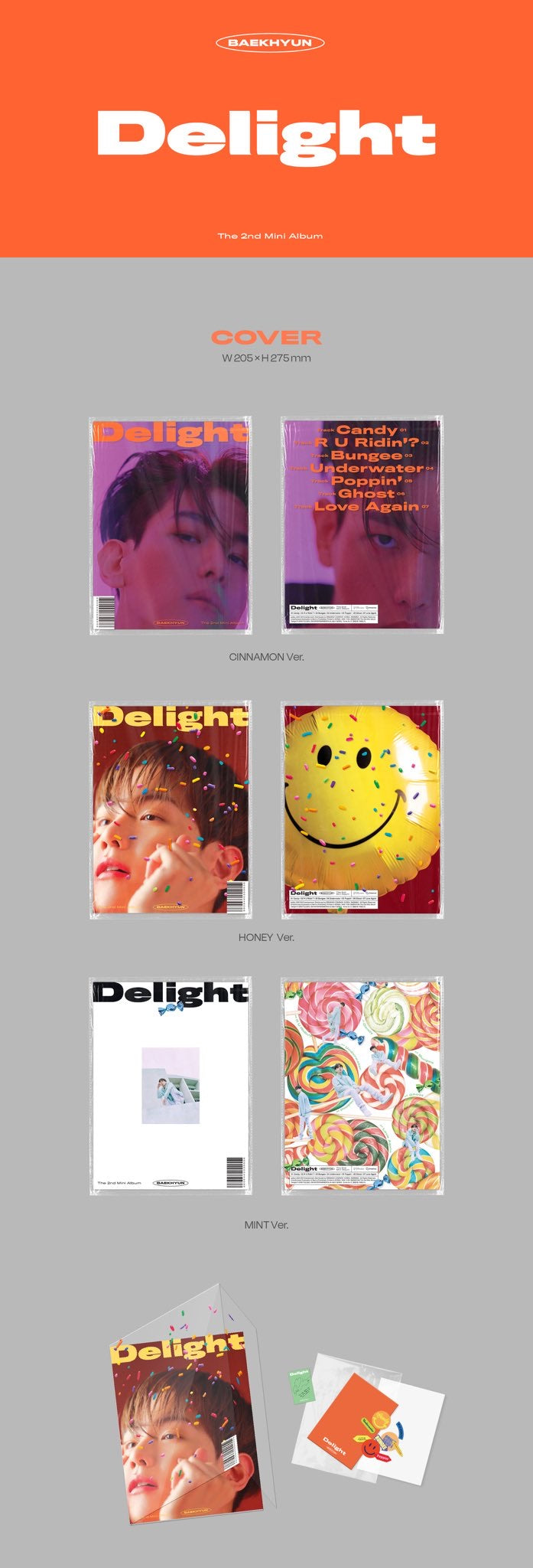 Baek Hyun - Delight (2nd Mini Album) - J-Store Online