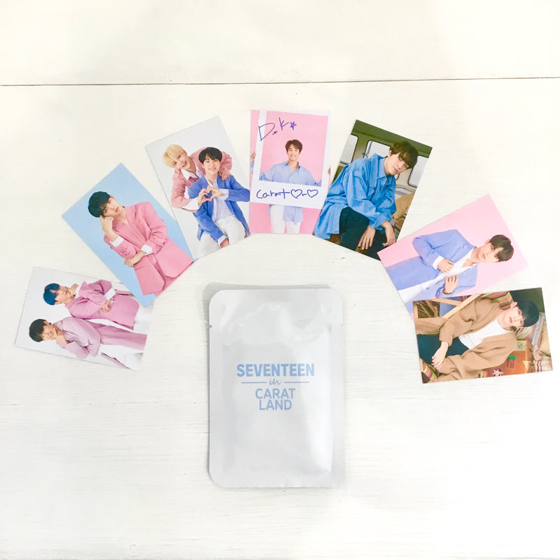 Official SEVENTEEN - The Carat Land Trading Cards Set (7 Karten)