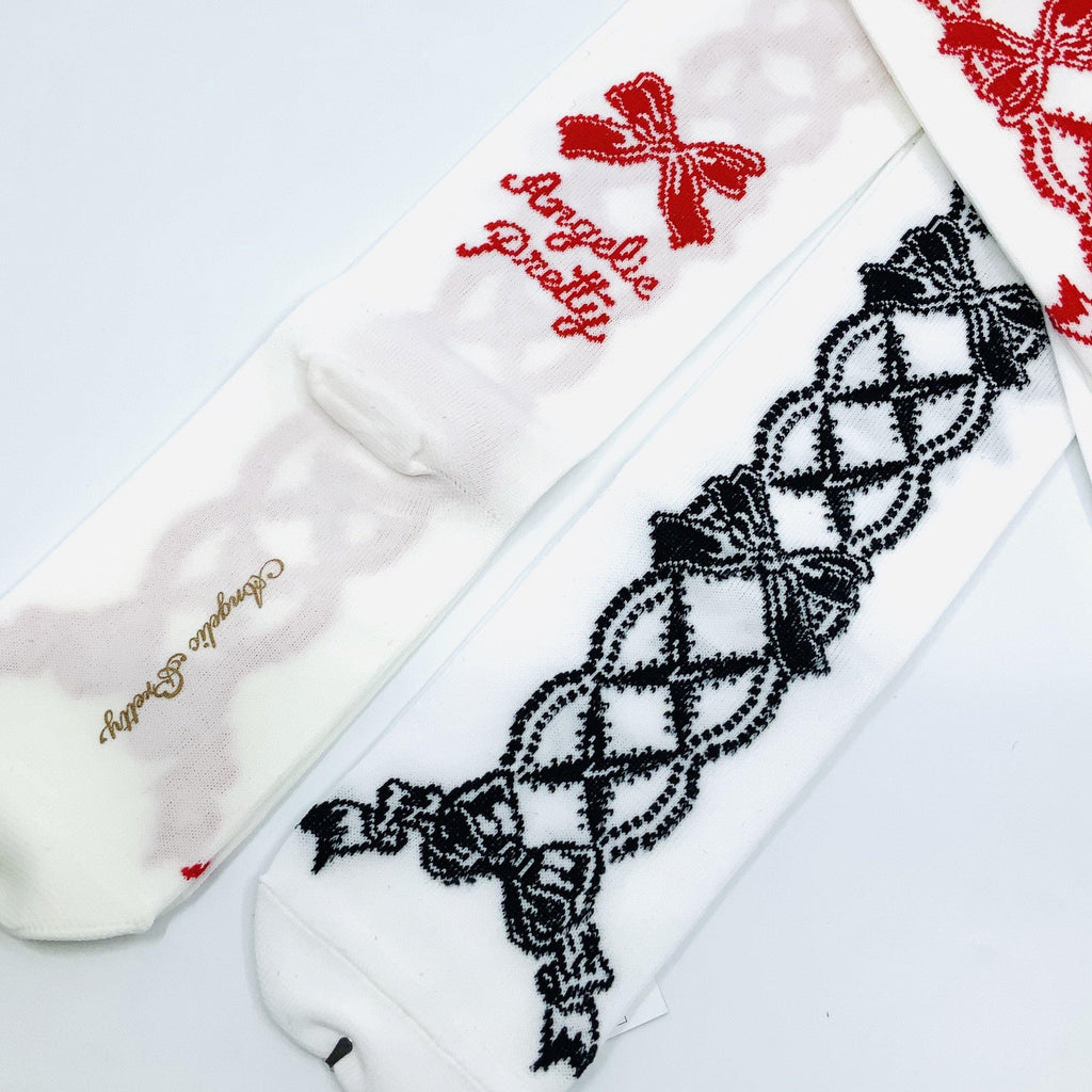 ANGELIC PRETTY - Lace Up Over the Knee Socks - J-Store Online