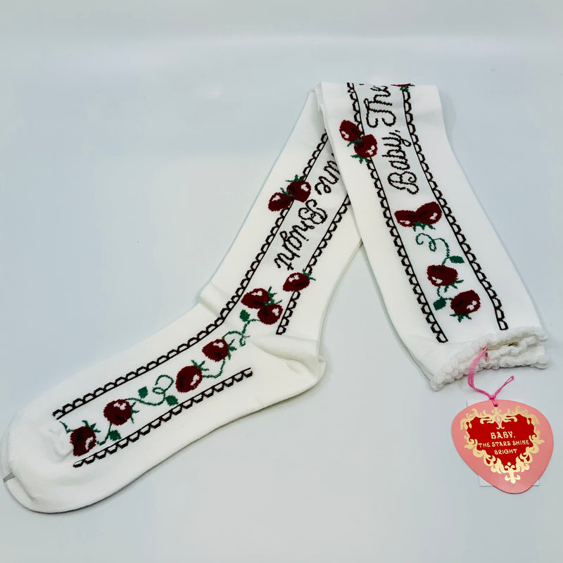 BABY THE STARS SHINE BRIGHT Strawberry Garden Over the knee socks - J-Store Online
