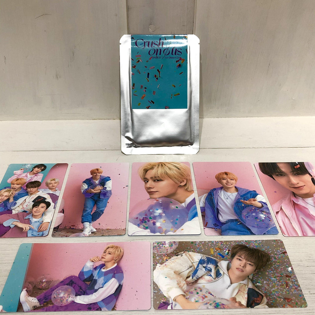 ONEUS - Trading Cards Set - 1st Ontact Live CRUSH ON Ø US (7 Cards)