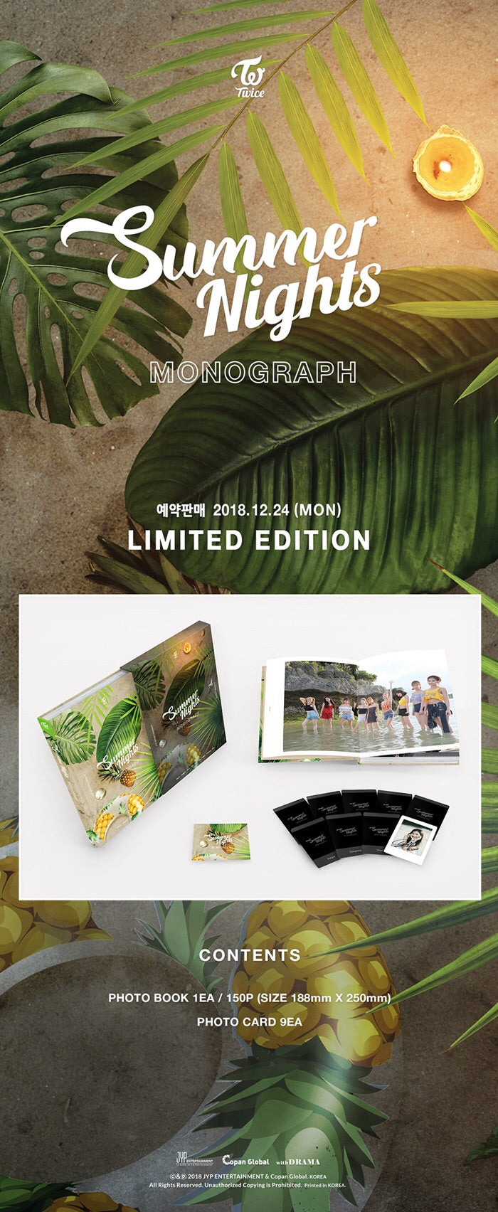 TWICE - Twice Monograph (Summer Nights) - Limited Edition - Pre-Order