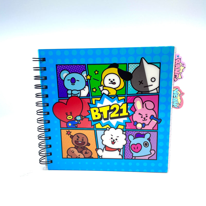 BT21 - Notebook with moveable dividers