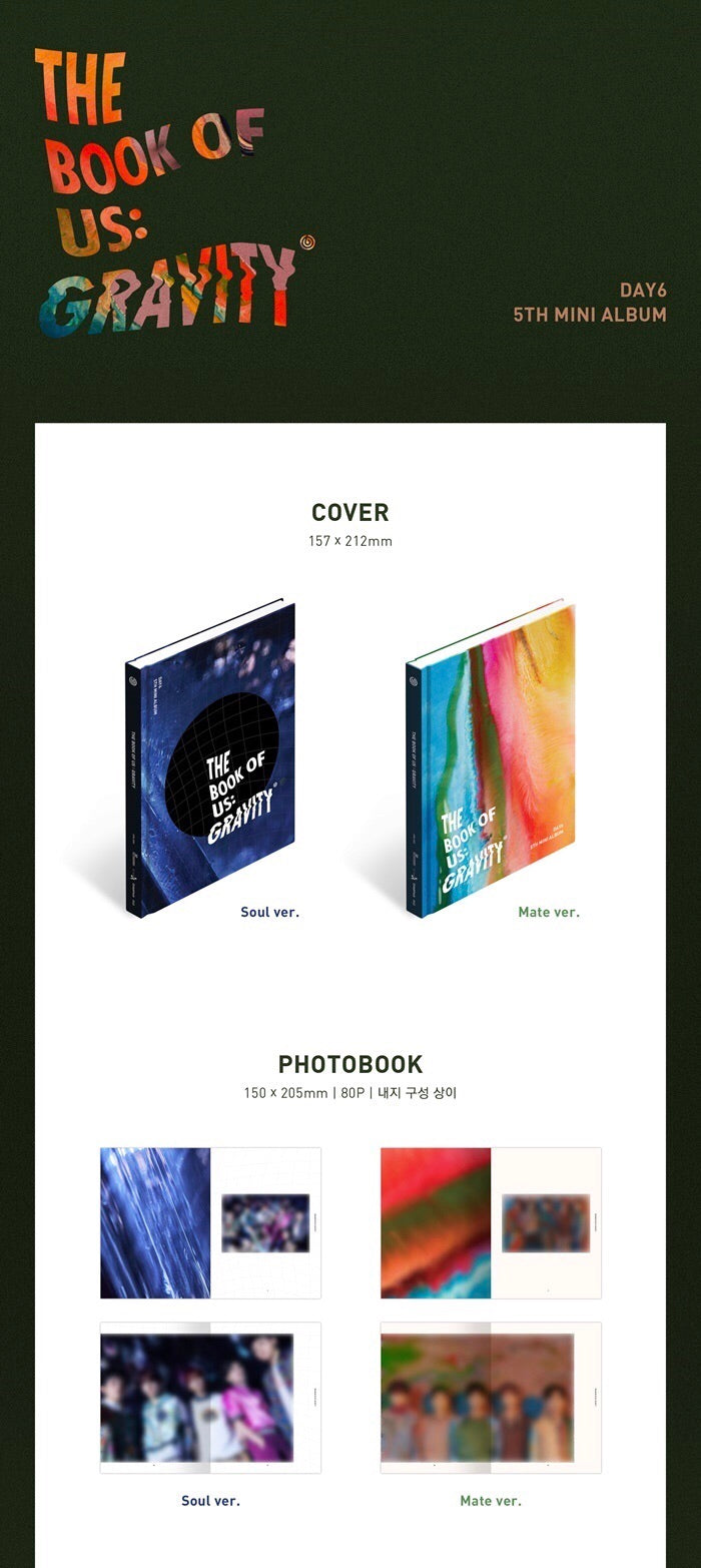 DAY6 - The Book Of Us: Gravity - J-Store Online