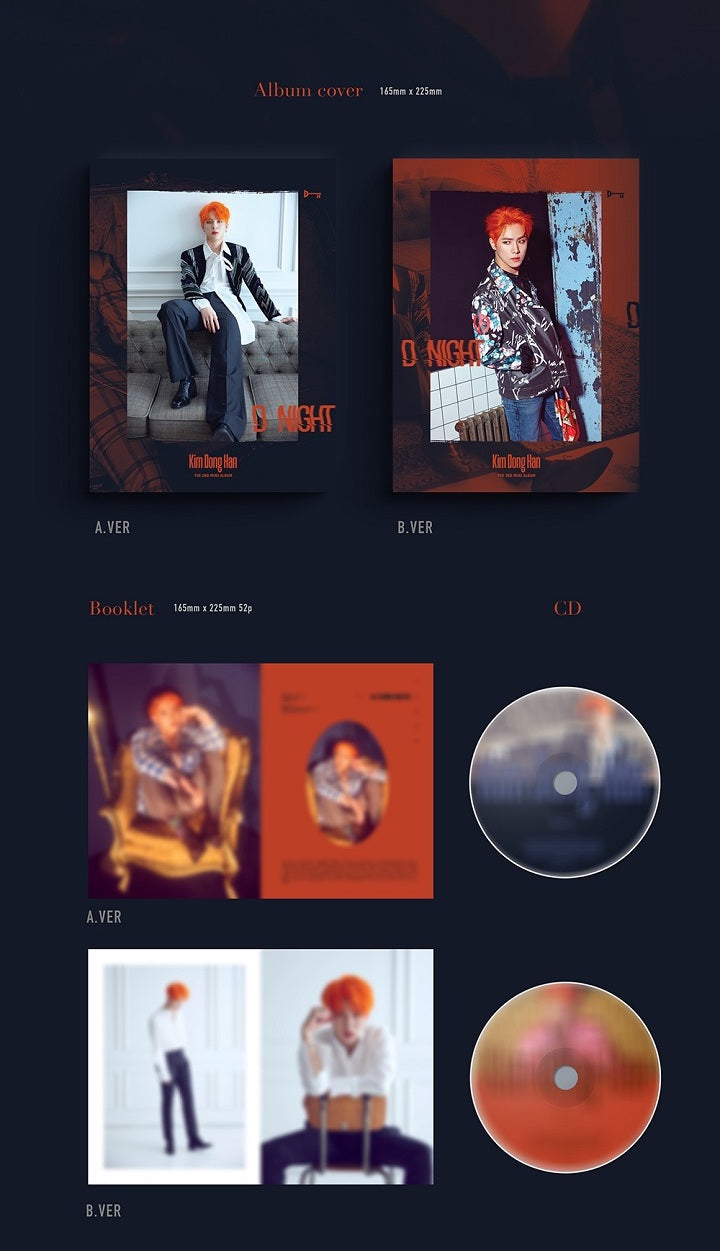 Kim Donghan - D-Night - 2nd Mini Album - Pre-Order