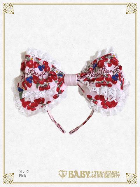 BABY THE STARS SHINE BRIGHT Strawberry Garden Headbow