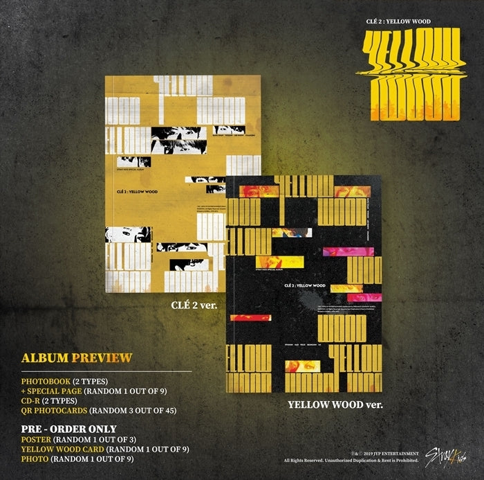 Stray Kids - CLE2 : Yellow Wood (Normal Edition) - J-Store Online