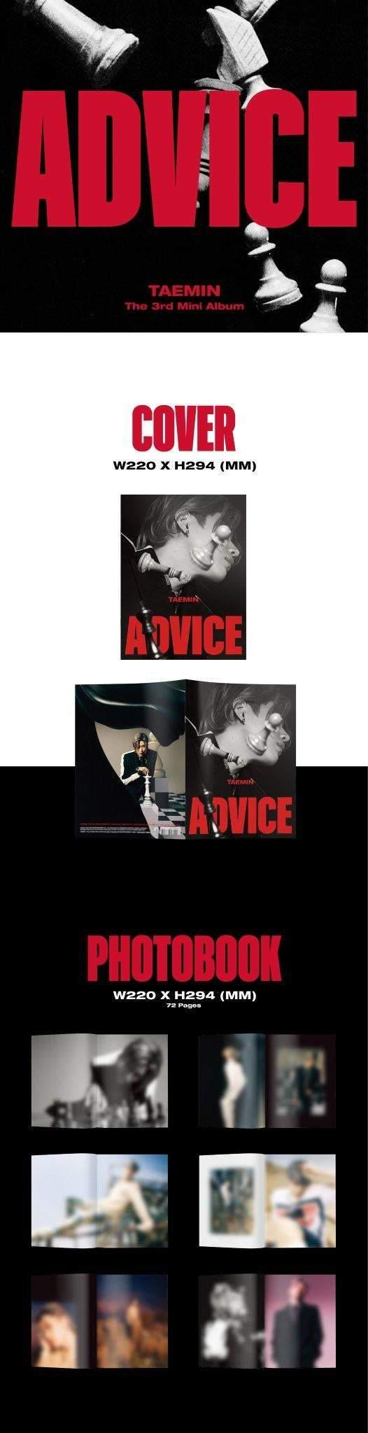 TAEMIN - ADVICE (3RD MINI ALBUM) - Pre-Order