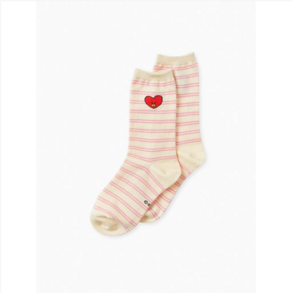 BT21 Heart Socks (all Characters) - J-Store Online