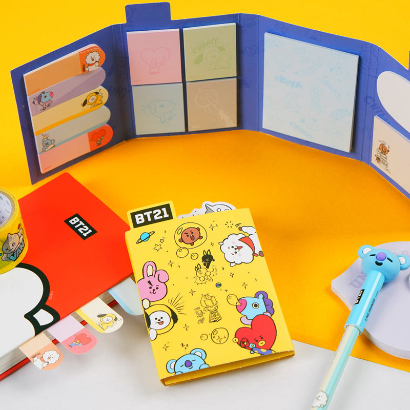 BT21 - Cut 4-Folded Sticky Memo