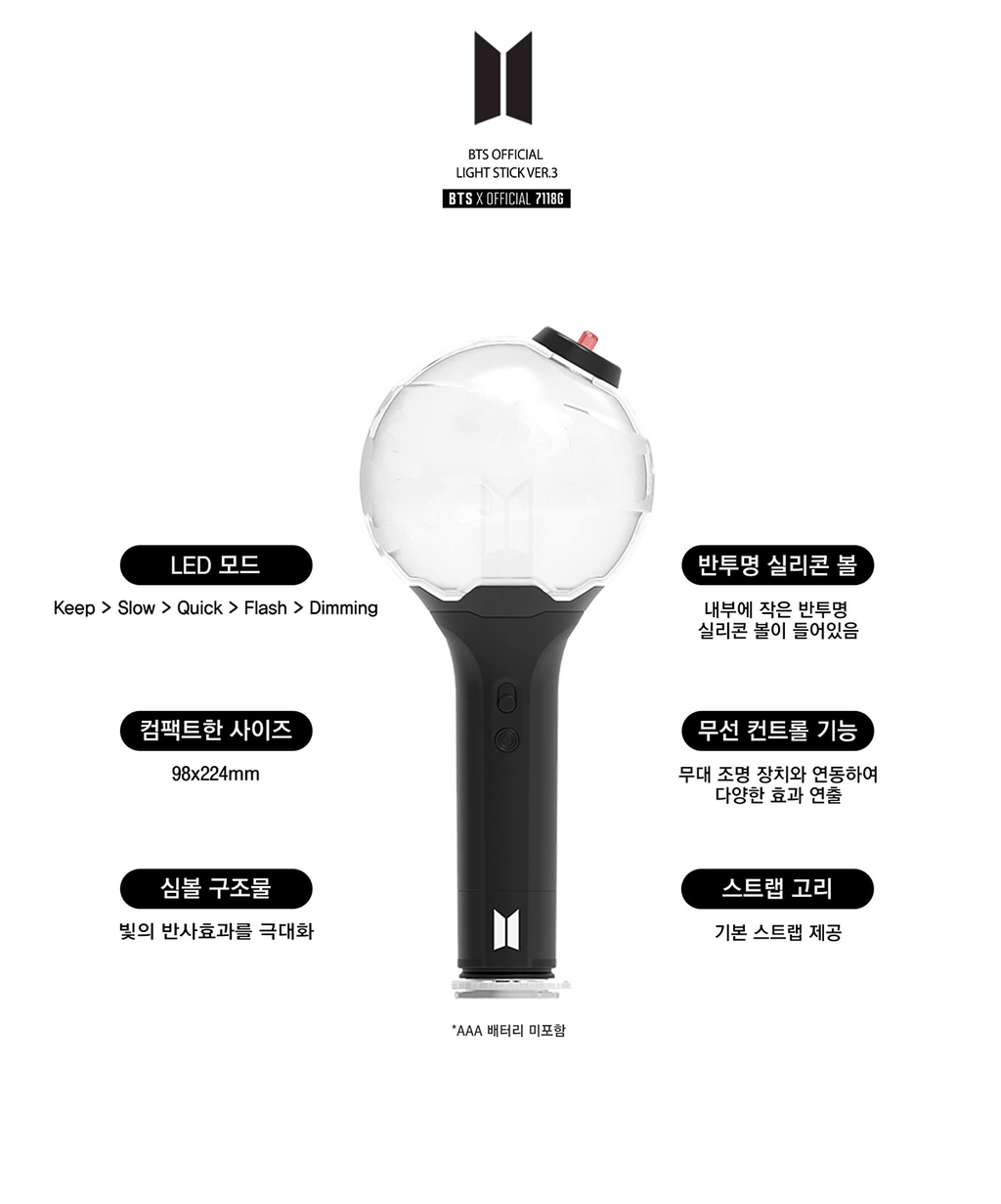 BTS Official Light Stick (Army Bomb Version 3)