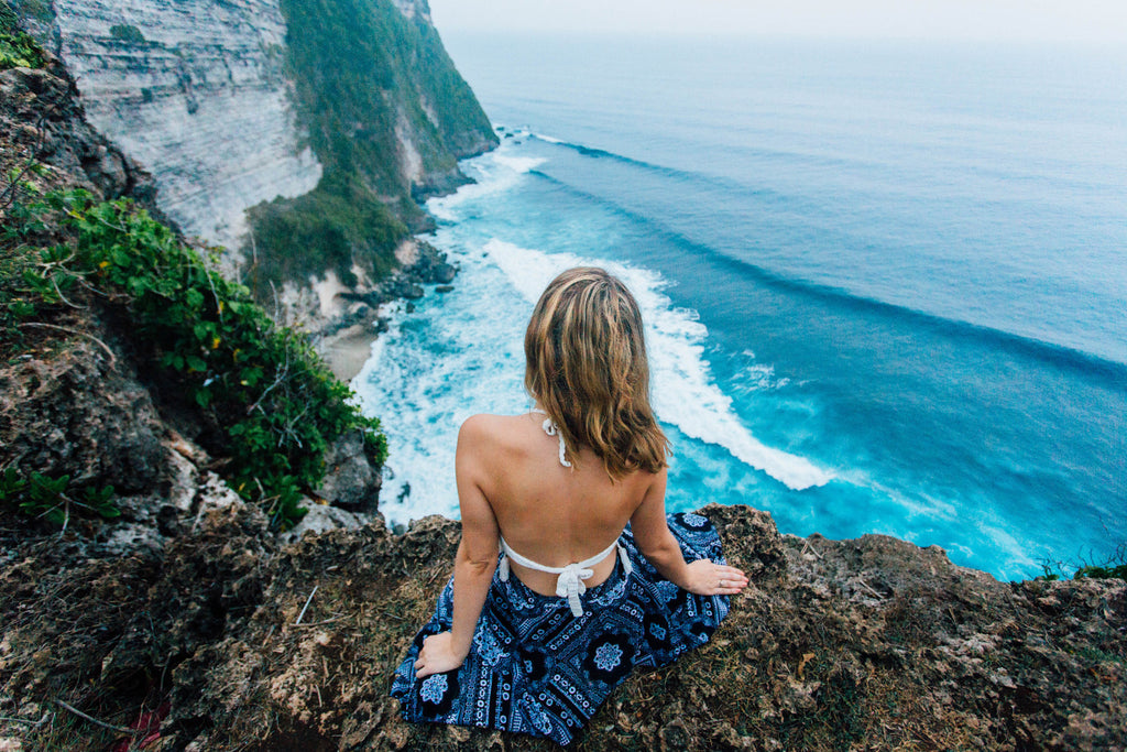 Polkadot Passport at Supernomad - Nicola at Uluwatu Temple in Bali, Indonesia