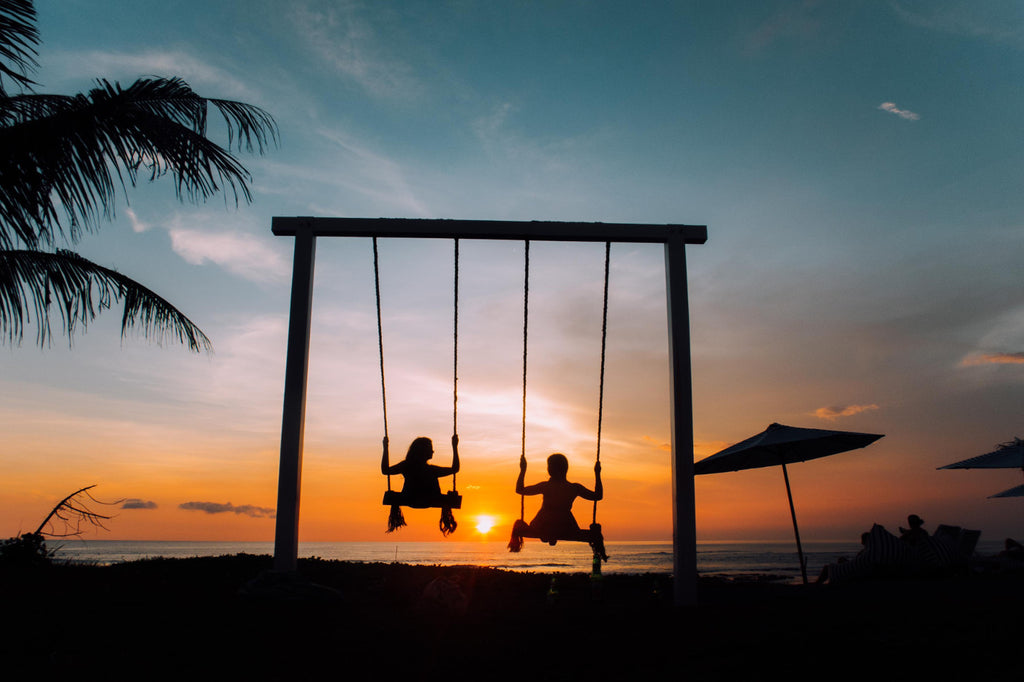 Polkadot Passport at Supernomad - swing in the sunset - Ubud, Bali, Indonesia