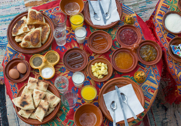 Sophee Smiles - At Home in Morocco - Moroccan Dishes on Table