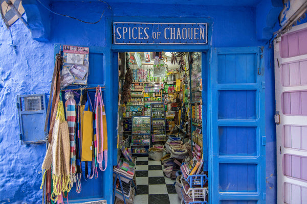 Street Scenes in Chefchaouen, Morocco by Sophee Smiles - Spices of Chaouen