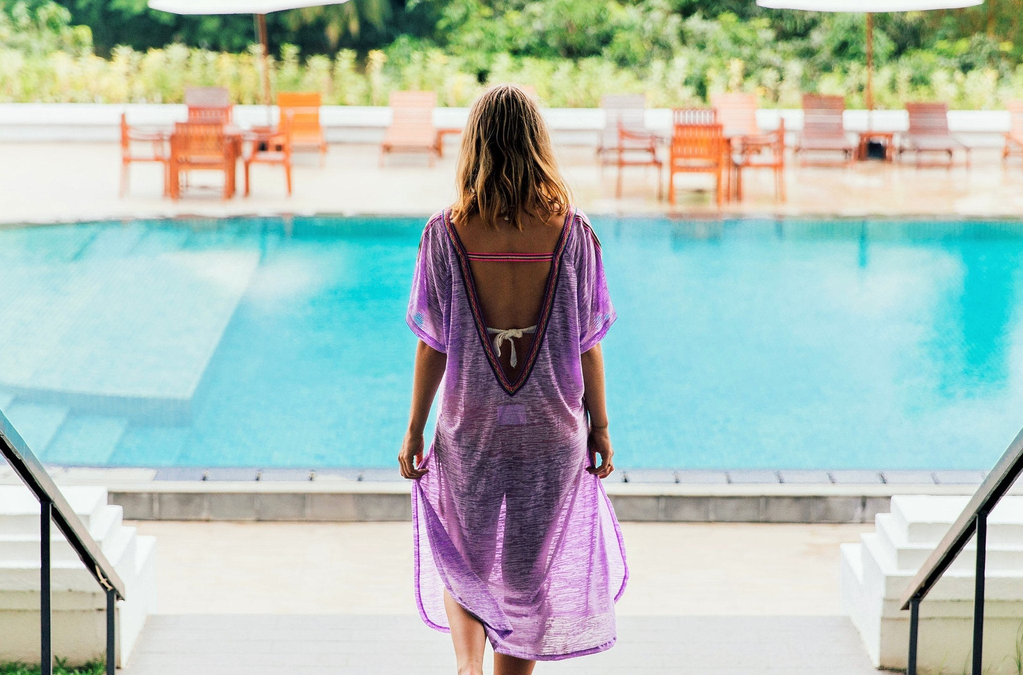 Nicola @PolkadotPassport wears Pitusa in Sri Lanka