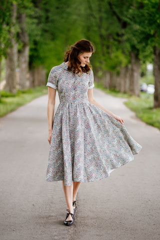 Classic Dress, Short Sleeves, Wild Meadow
