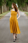 Pinafore Dress, Sleeveless, Marigold