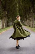 Garden Coat, Wool, Moss Green