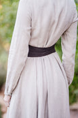 Picture from the back: brown linen waist belt