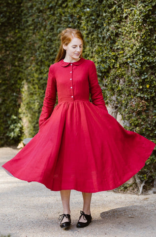 Classic Dress, Short sleeves, Rose Pink