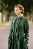 Elisa Dress, Long Sleeves,  Emerald Green