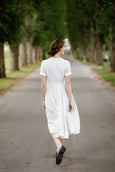 Classic Dress, Short sleeves, Symphony White