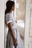 Classic Dress, Short sleeves, Bluebell