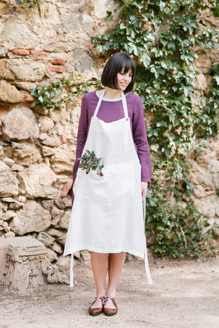 Traditional Apron, White Magnolia