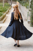 Linen Shawl, Girls, Skyblue