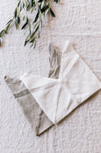White linen bread bag, image from above