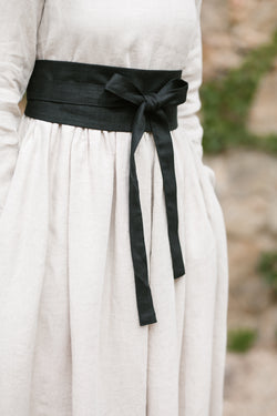 Ribbon Belt, Black Pansy
