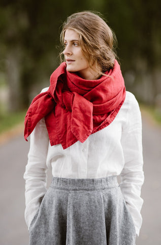 Palisandra Shawl, Red Poppy