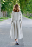 Haiku Dress, Long sleeves, Saffron