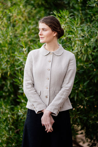 Classic Jacket, Natural Linen