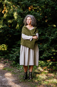 Tilda Shawl, Wool, Moss Green