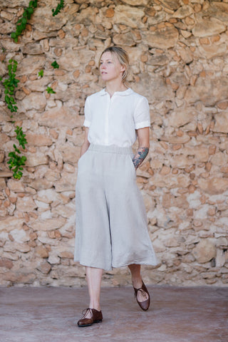 Katherine Trousers, Natural Linen