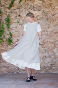 Natural linen apron for women
