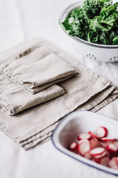 Linen Napkins, Natural Linen, set of 4