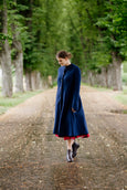 Garden Coat, Wool, Deep Blue