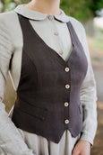 Dahlia Vest, Autumn Brown