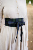Ribbon Belt, Blue Tartan