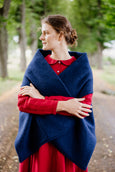 Tilda Shawl, Wool, Deep Blue