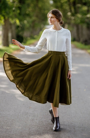 Classic Skirt, Rosemary Green