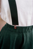 Linen Suspenders with Adjustable Clip-End, Evergreen
